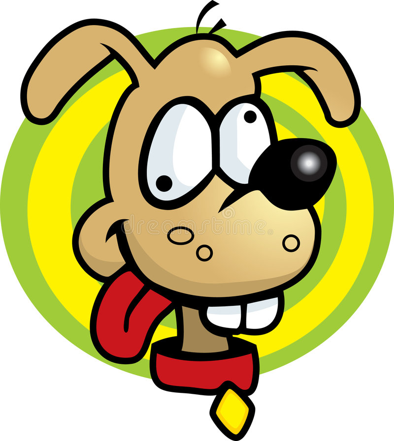 σκυλί ηλίθιο διανυσματική απεικόνιση