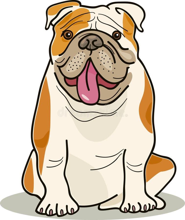σκυλί μπουλντόγκ διαστ&alpha διανυσματική απεικόνιση