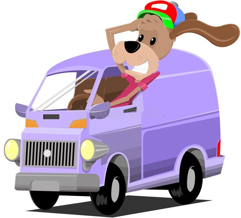 Σκυλί οδηγών ελεύθερη απεικόνιση δικαιώματος