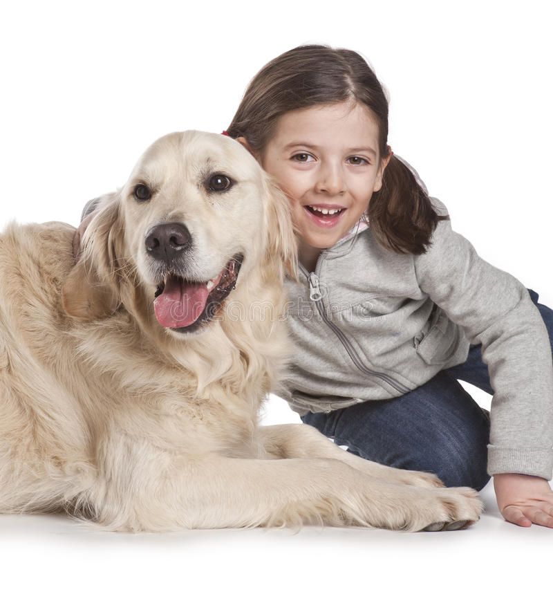 σκυλί παιδιών αυτή στοκ εικόνα