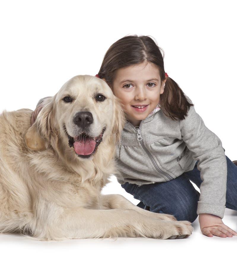 σκυλί παιδιών αυτή στοκ εικόνες με δικαίωμα ελεύθερης χρήσης