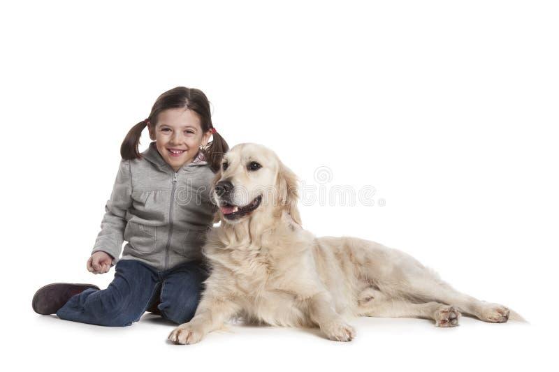 σκυλί παιδιών αυτή στοκ φωτογραφίες