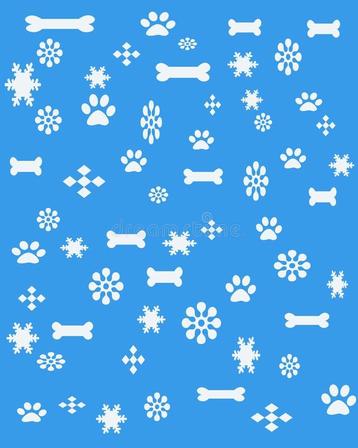 σκυλί s Χριστουγέννων διανυσματική απεικόνιση