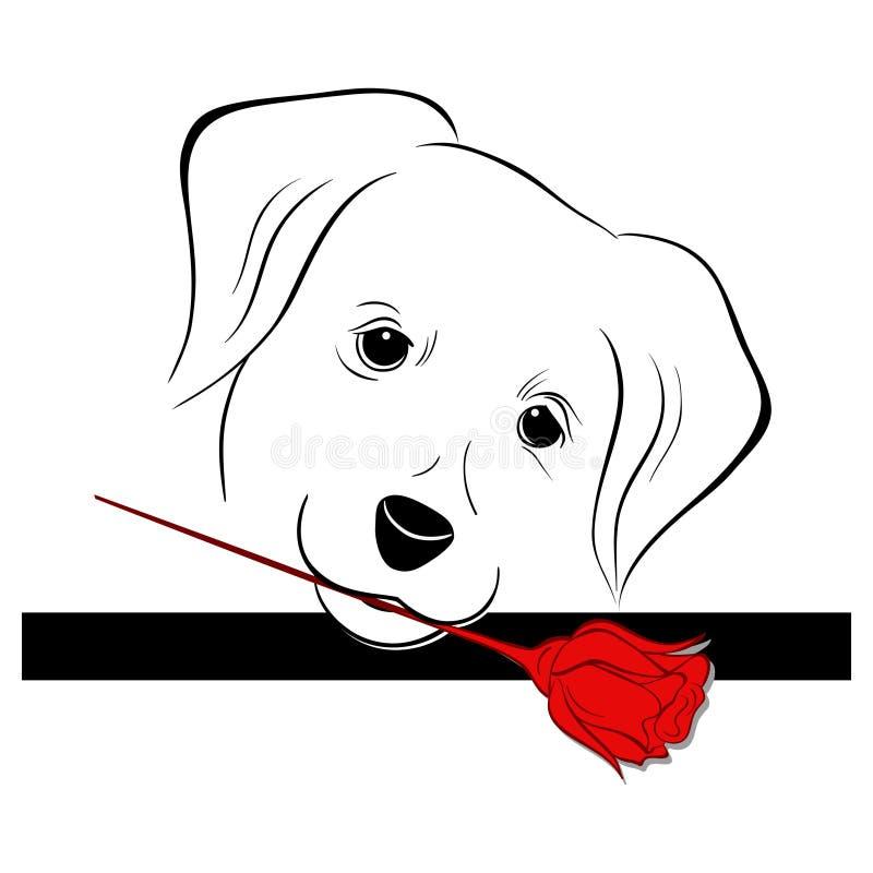 σκυλί Valentina διανυσματική απεικόνιση