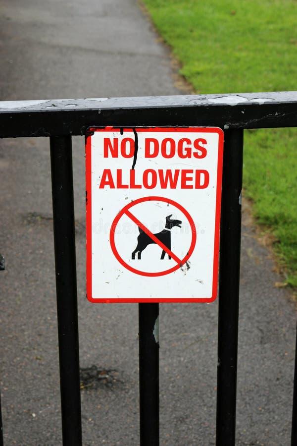 σκυλιά κανένα σημάδι στοκ εικόνα με δικαίωμα ελεύθερης χρήσης
