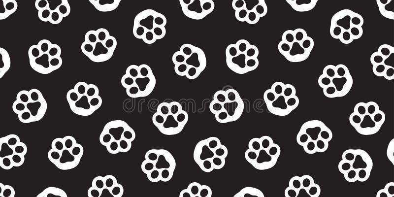 Σκυλιών ποδιών άνευ ραφής σχεδίων διανυσματική ταπετσαρία υποβάθρου γατακιών γατών απομονωμένη πόδι διανυσματική απεικόνιση