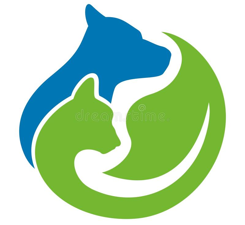 Σκυλί και γάτα της Pet διανυσματική απεικόνιση
