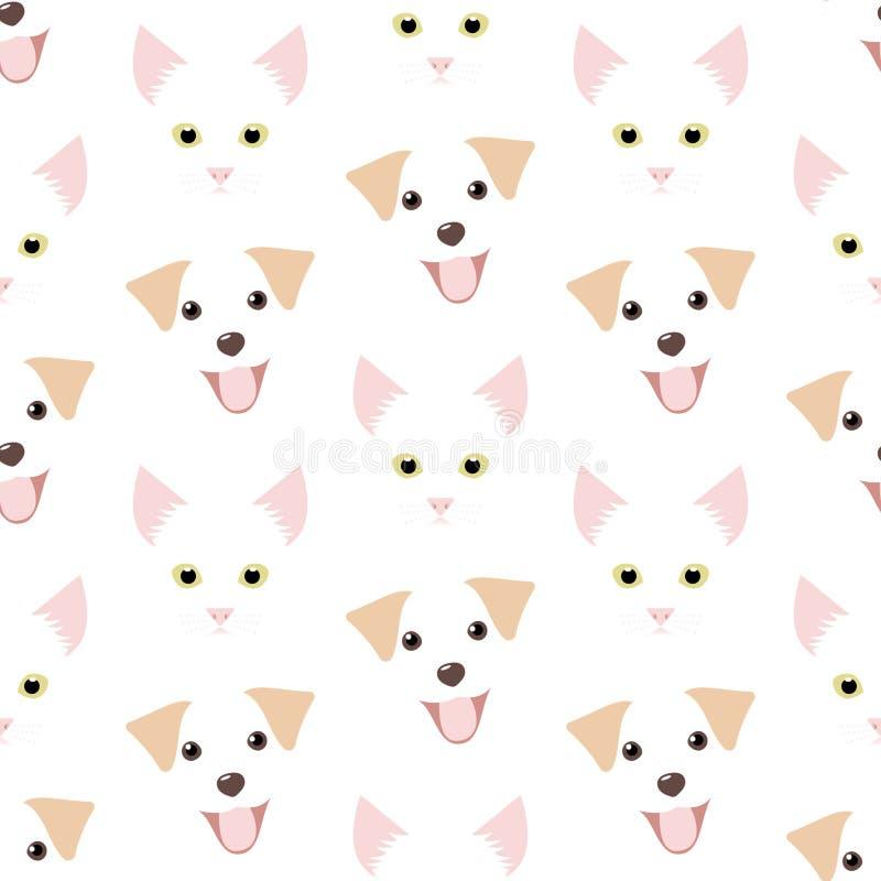 Σκυλί και γάτα απεικόνιση αποθεμάτων