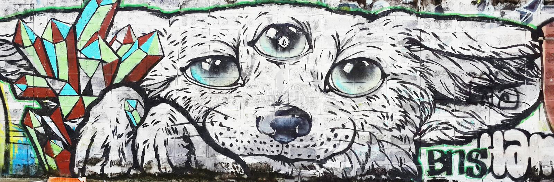 Σκυλί και τρίτα μάτια διανυσματική απεικόνιση