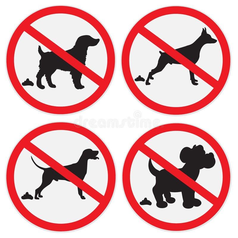 σκυλί κανένα σημάδι επίστε ελεύθερη απεικόνιση δικαιώματος