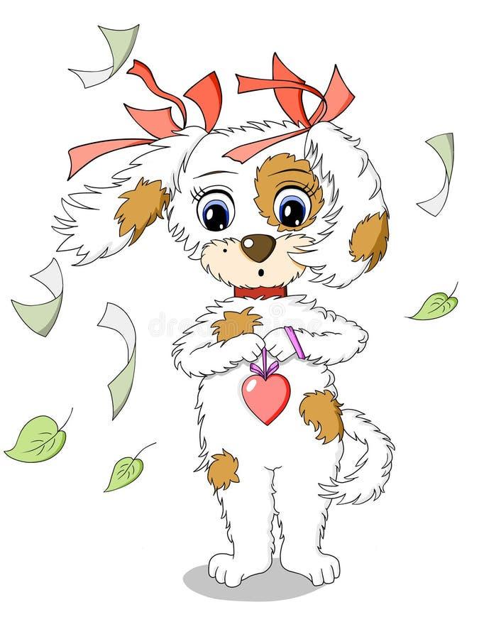 Σκυλί κινούμενων σχεδίων στοκ φωτογραφία με δικαίωμα ελεύθερης χρήσης