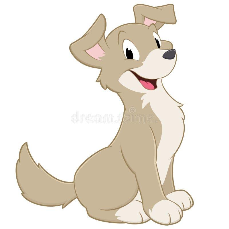 Σκυλί κινούμενων σχεδίων διανυσματική απεικόνιση