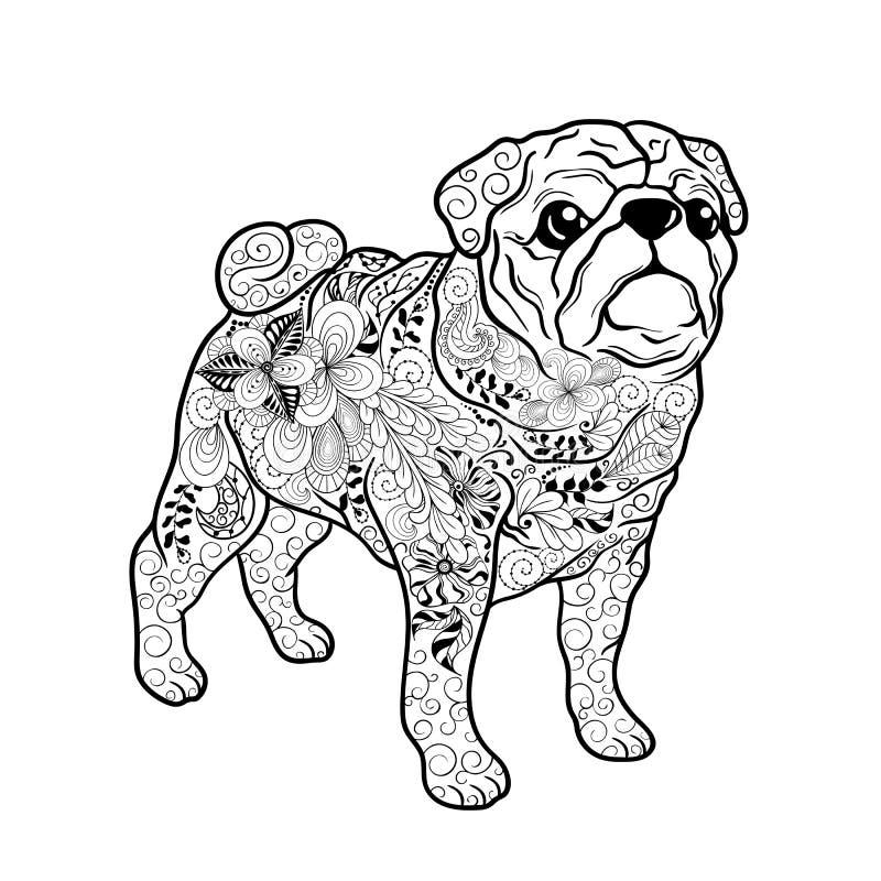 Σκυλί μαλαγμένου πηλού doodle διανυσματική απεικόνιση