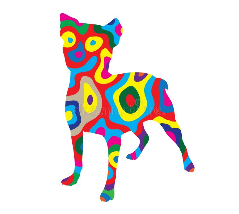 Σκυλί 2 ουράνιων τόξων απεικόνιση αποθεμάτων
