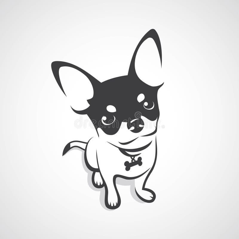 Σκυλί Chihuahua - διανυσματική απεικόνιση απεικόνιση αποθεμάτων