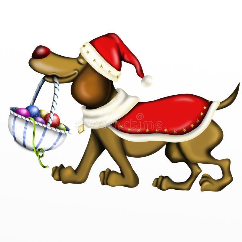 Σκυλί Christams απεικόνιση αποθεμάτων