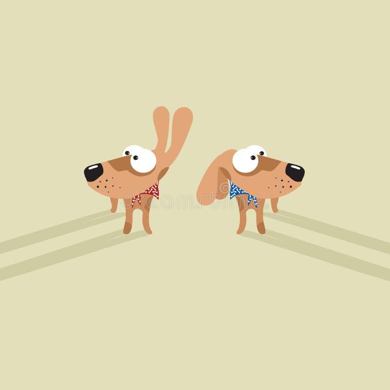 σκυλιά αστεία ελεύθερη απεικόνιση δικαιώματος