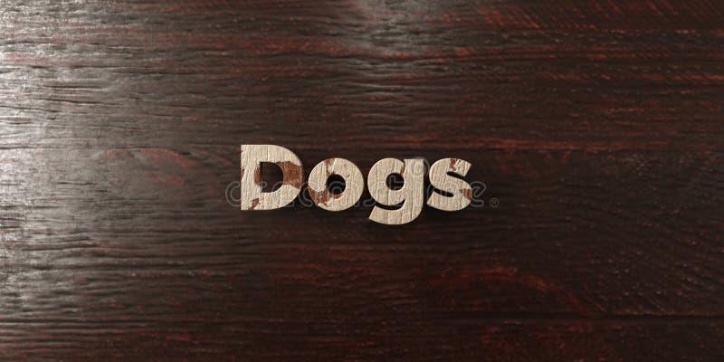 Σκυλιά - βρώμικος ξύλινος τίτλος στο σφένδαμνο - τρισδιάστατο δικαίωμα ελεύθερη εικόνα αποθεμάτων διανυσματική απεικόνιση