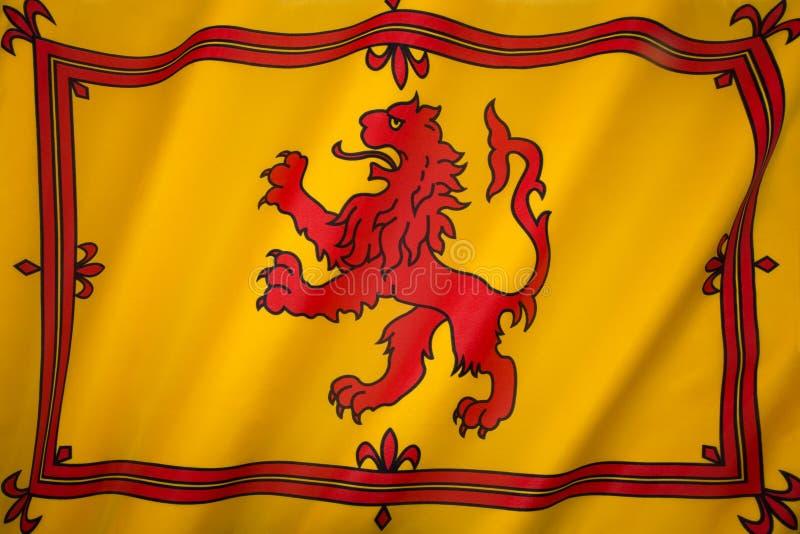 Σκωτία - αχαλίνωτη σημαία λιονταριών - σκωτσέζικα βασιλικά πρότυπα στοκ φωτογραφία