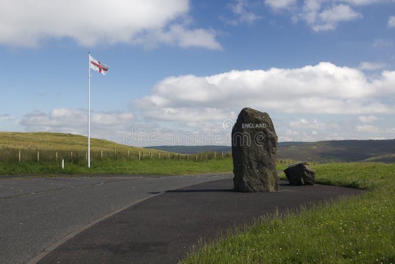 Σκωτσέζικα - αγγλικά σύνορα, Northumberland, Ηνωμένο Βασίλειο στοκ φωτογραφίες με δικαίωμα ελεύθερης χρήσης
