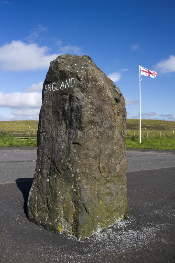 Σκωτσέζικα - αγγλικά σύνορα, Northumberland, Ηνωμένο Βασίλειο στοκ εικόνες με δικαίωμα ελεύθερης χρήσης