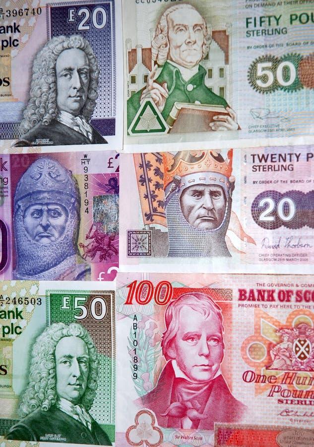 Σκωτσέζικα τραπεζογραμμάτια. στοκ εικόνα με δικαίωμα ελεύθερης χρήσης