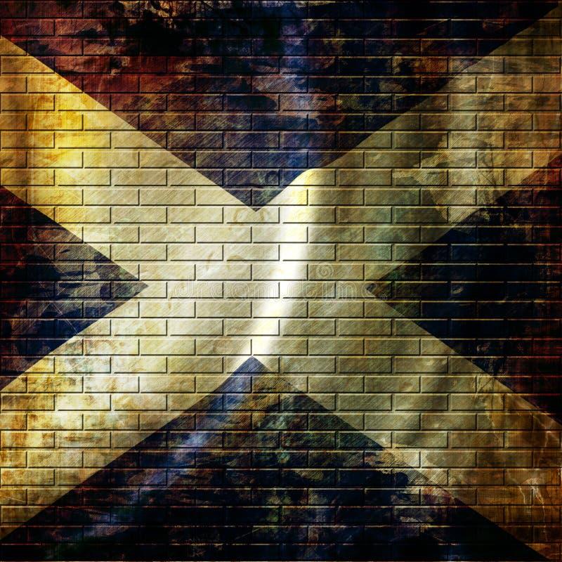 Σκωτσέζικη σημαία διανυσματική απεικόνιση