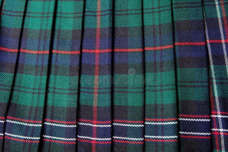 σκωτσέζικη φούστα σκωτσέ&z στοκ εικόνα