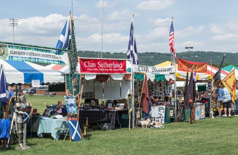 Σκωτσέζικοι αγώνες Sc της Γκρήνβιλ στοκ φωτογραφία με δικαίωμα ελεύθερης χρήσης