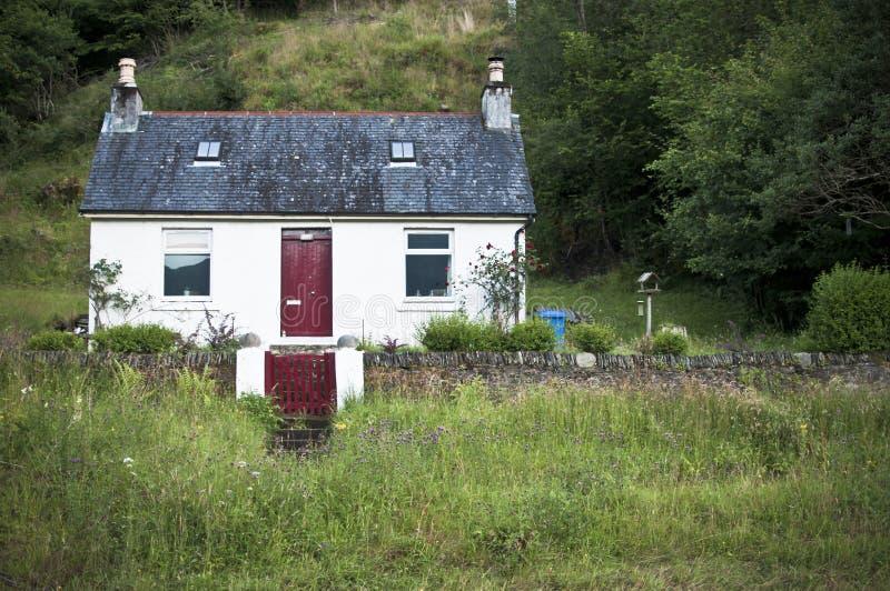 Σκωτσέζικο εξοχικό σπίτι στοκ εικόνες