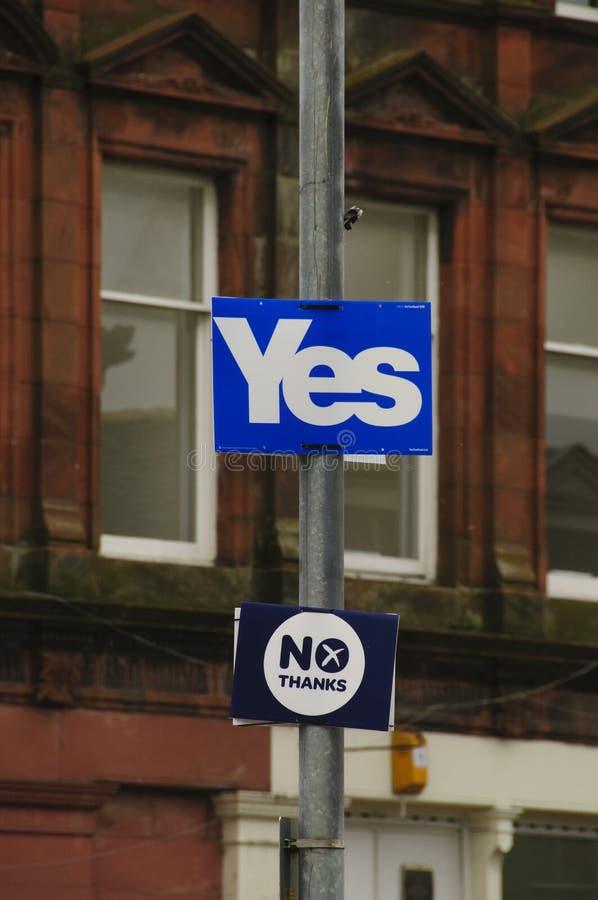 2014 σκωτσέζικο δημοψήφισμα ανεξαρτησίας στοκ εικόνες