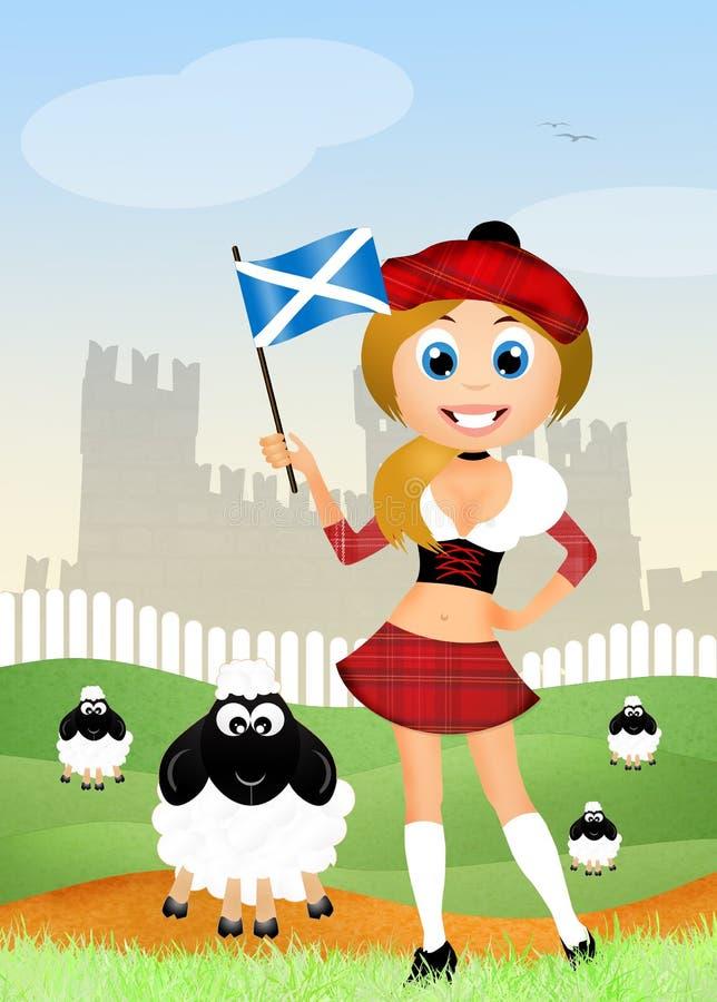 Σκωτσέζικο κορίτσι ελεύθερη απεικόνιση δικαιώματος