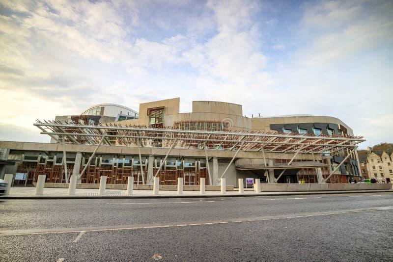 Σκωτσέζικο κτήριο των Κοινοβουλίων στο στο κέντρο της πόλης Εδιμβούργο στοκ εικόνα με δικαίωμα ελεύθερης χρήσης