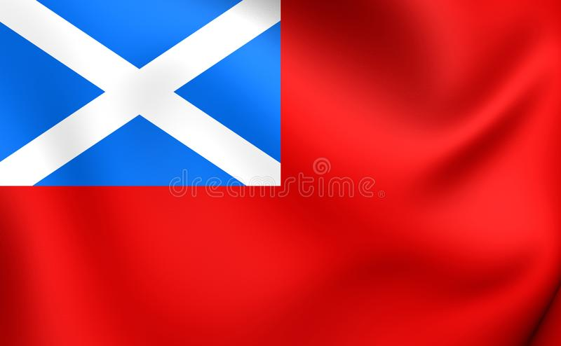 Σκωτσέζικο κόκκινο Ensign απεικόνιση αποθεμάτων