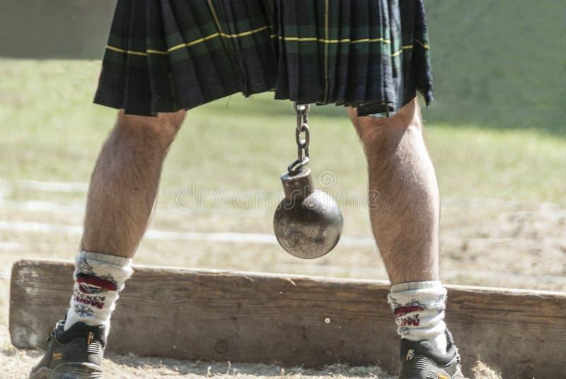 Σκωτσέζικο πρόσωπο με μια σκωτσέζικη φούστα στοκ εικόνα με δικαίωμα ελεύθερης χρήσης