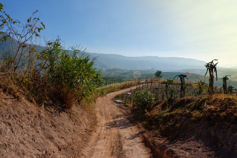 Σκόνη οδικής επαρχίας στοκ φωτογραφία