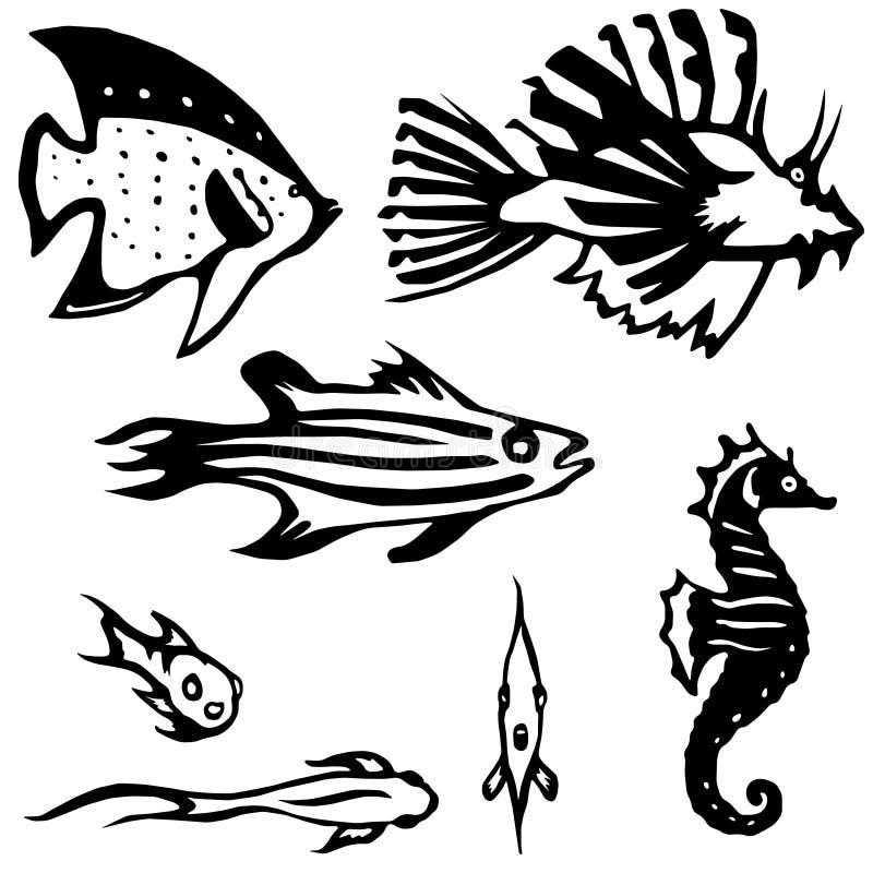 σκόπελος ψαριών κατοικι απεικόνιση αποθεμάτων