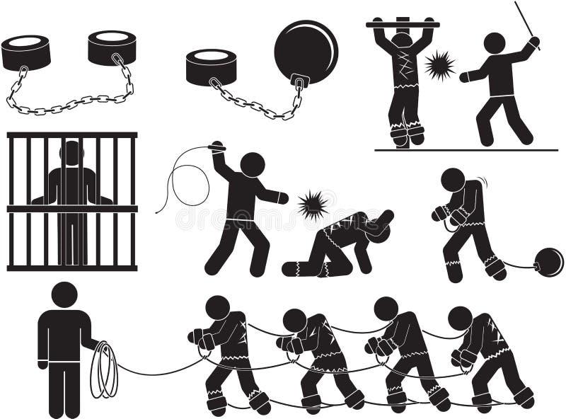 σκλάβος διανυσματική απεικόνιση