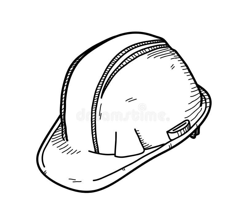 Σκληρό καπέλο ή καπέλο ασφάλειας ελεύθερη απεικόνιση δικαιώματος