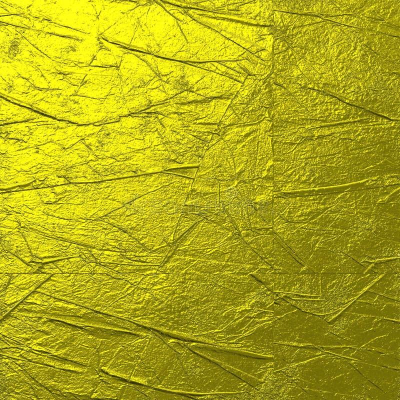 Σκληρό τσαλακωμένο χρυσός υπόβαθρο σύστασης ελεύθερη απεικόνιση δικαιώματος