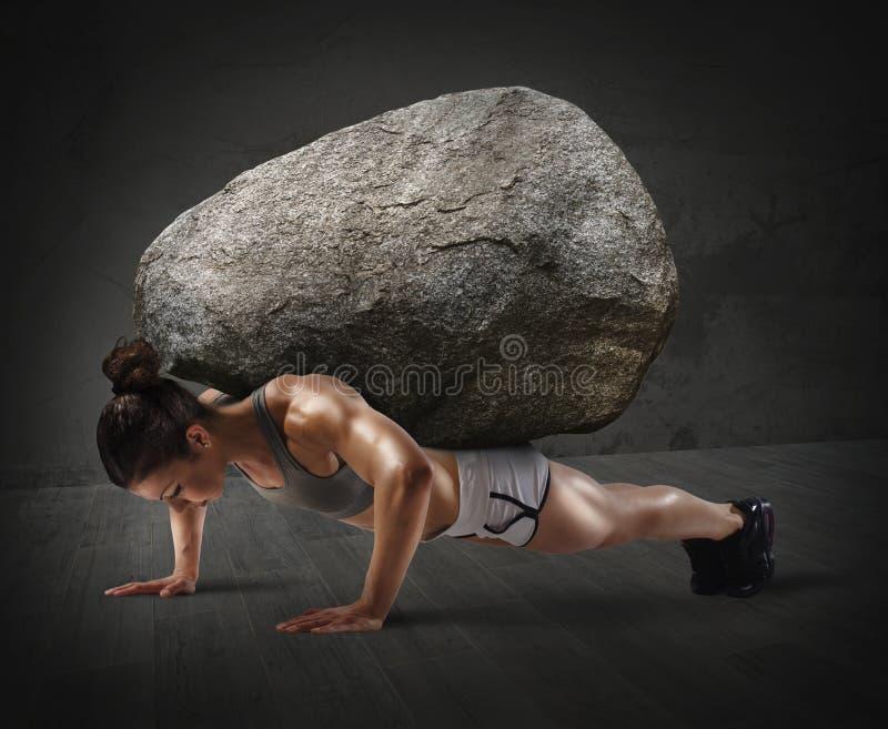 σκληρό workout στοκ εικόνες