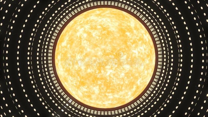 Σμήνος Dyson - τρισδιάστατη απόδοση ελεύθερη απεικόνιση δικαιώματος