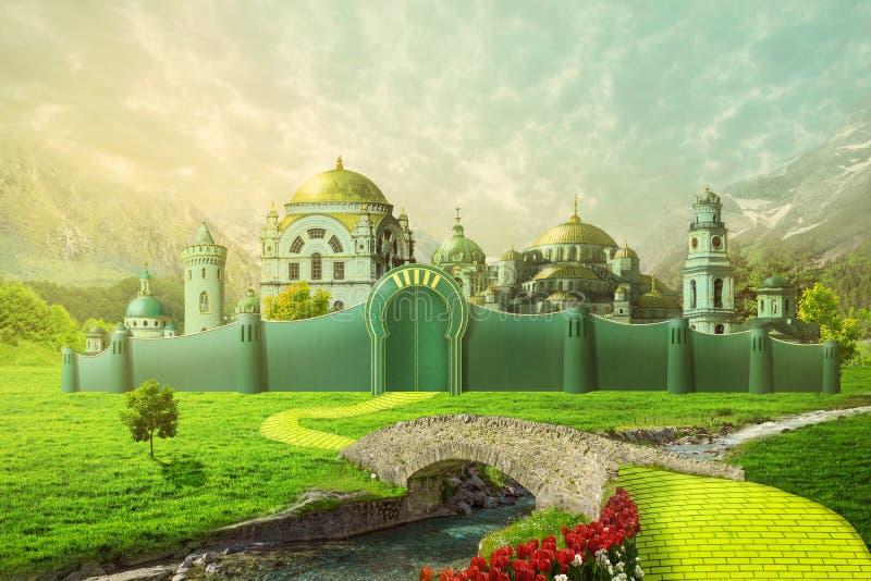 Σμαραγδένια απεικόνιση πόλεων απεικόνιση αποθεμάτων