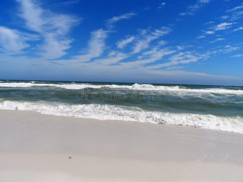 Σμαραγδένια ωκεάνια κύματα της παραλίας ακτών Κόλπων στοκ εικόνα με δικαίωμα ελεύθερης χρήσης