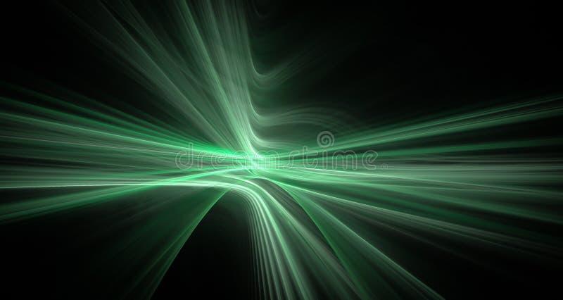 Σμαραγδένιες fractal γραμμές ελεύθερη απεικόνιση δικαιώματος