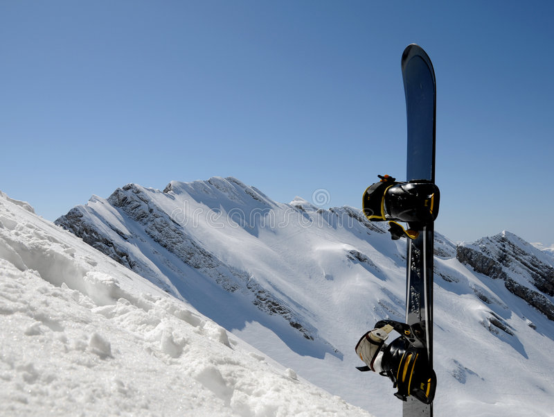 σνόουμπορντ βουνών τελών στοκ φωτογραφία με δικαίωμα ελεύθερης χρήσης
