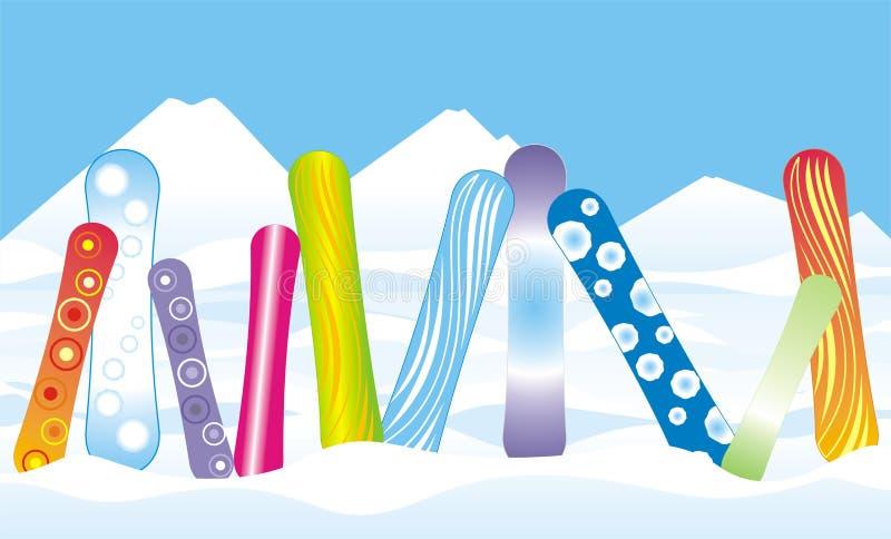 σνόουμπορντ χιονιού διανυσματική απεικόνιση