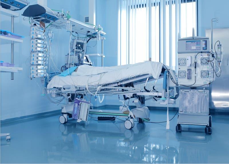 Σοβαρά άρρωστοι ασθενείς και η μηχανή διάλυσης στοκ φωτογραφία με δικαίωμα ελεύθερης χρήσης