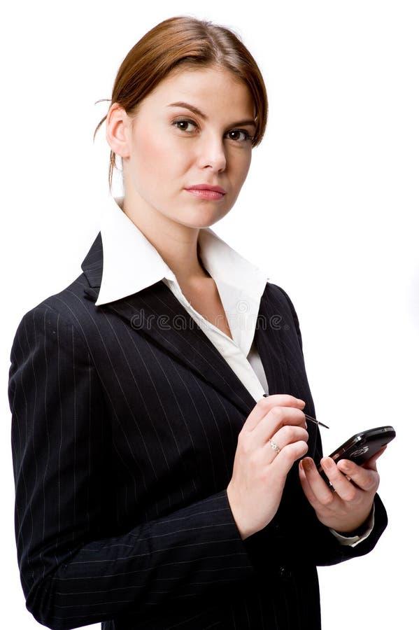 Σοβαρή επιχειρηματίας στοκ εικόνες