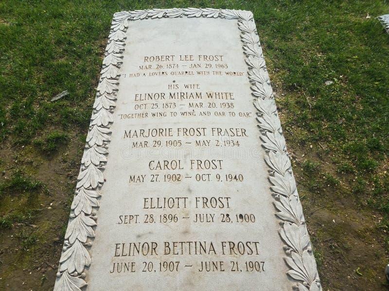Σοβαρή πέτρα του παγετού του Robert ποιητών στο νεκροταφείο στοκ εικόνα με δικαίωμα ελεύθερης χρήσης